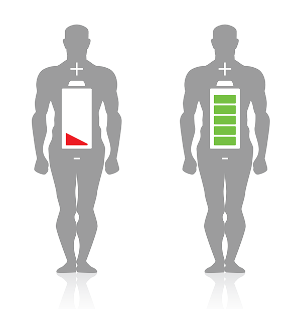 Mans-Body-Representing-Battery-Charge