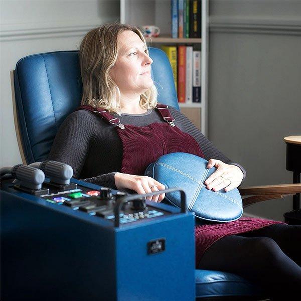 Woman-Sat-In-PEMF-Chair-at-PEMFiT
